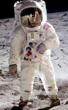 I love this picture it is Neil Armstrong on the moon in 1969