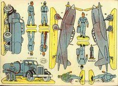 Recortables Collectables: Cut of soldiers hunting Aviacion (Ed.La Tijera, 10 Series Num.16) - Photo 2 - 32224690
