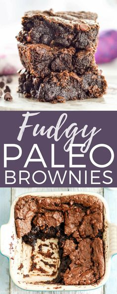 Gooey Fudgy Paleo Brownies Recipe! This heathy dessert recipe is ready in 15 minutes flat and makes the best brownies EVER! #vegan #paleo #grainfree #glutenfree #dairyfree #brownies #fudgybrownies #chocolate #healthydessert #dessert #paleodessert