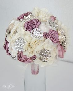 Artificial flowers and jewellery Bouquet pinterset - Google Search