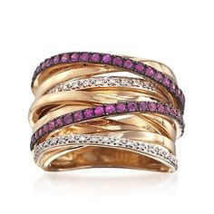 Ruby and Diamond Highway Ring