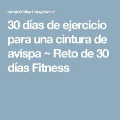 30 días de ejercicio para una cintura de avispa          ~          Reto de 30 días Fitness