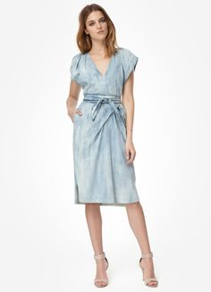 Rebecca Taylor bleached-denim dress... Dying!  This will soon be in my closet.
