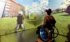 Takes your mind where body can't.via Affordable Opens NewWorlds 4 People WithDisabilities A student in a wheelchair tests out a virtual reality experience at Aalto University in Finland. Virtual World, Virtual Reality, Perspective, Disabled People, Transform Your Life, Augmented Reality, Occupational Therapy, Disability, Helping People