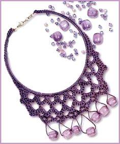 Crochet necklace (russian written pattern)