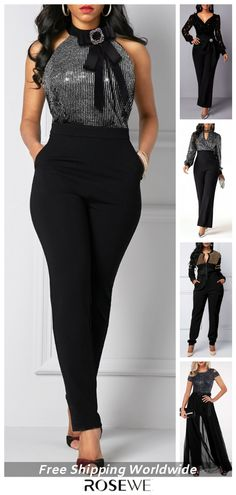 Smart Casual Party/Holiday Outfits Perfect For Women 2020 Smart Casual Party, Black Smart Casual, Classy Outfits, Trendy Outfits, Fashion Outfits, Fashion Pants, Latest Fashion For Women, Womens Fashion, Dope Fashion