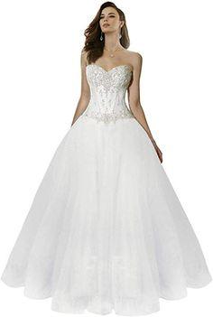 Sweetheart Tulle Ball Gown Wedding Dress Long C006WD Wedding Dress Train, Long Wedding Dresses, Bridal Dresses, Wedding Gowns, Prom Dresses, Formal Dresses, Tulle Ball Gown, Ball Gowns, Marie