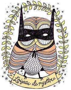 mysterious owl by Fleur Harris