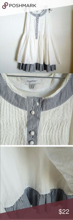 Anthropologie Tunic Tank New listing! Gorgeous sleeveless top with great details- those stripes are so fun! 31 inches long- tunic length! True to size, no stretch. Brand is Mystree- from Anthropologie. Anthropologie Tops Tunics