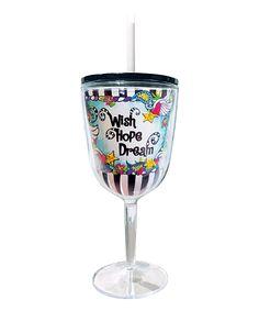 'Wish Hope Dream' 13-Oz. Travel Goblet