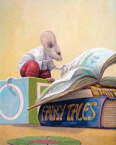 Hooooo... Lovely big ears! #illustration #mouse