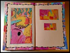 Maria McGuire http://www.believedreamcreatewithmaria.com/ Art Journal page using Carolyn Dube's SPARK.