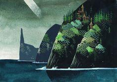 Mysterious Islands | Illustrator: Yvan Duque | Via: The Fox Is Black