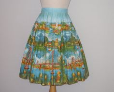 RARE 1950s Novelty Print Skirt / Golden by RainbowValleyVintage, £125.00 It's a MIllworth!!