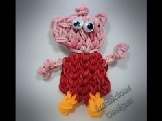 PEPPA PIG. Designed and loomed by Kate Schultz for Izzalicious Designs. Click photo for YouTube tutorial.