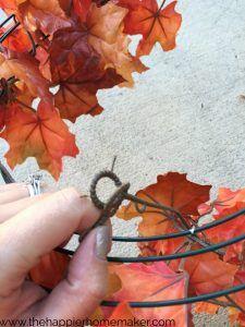 diy leaf wreath