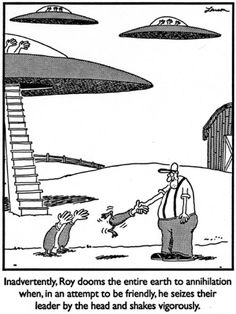 The Far Side. Aliens.