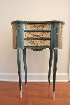 Louis XVI Table Alexandre Hugnet Paris 1900 Painted 3 Drawer Furniture Antique | eBay