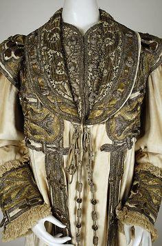 Evening coat Designer: Francis Date: ca. 1908 Culture: French Medium: silk, cotton, metallic thread Accession Number: 1980.160, The Met
