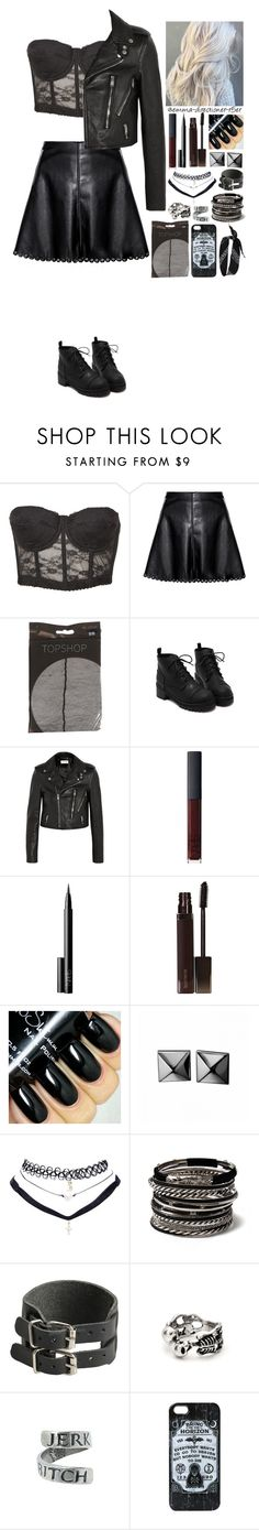 """""""I'm a bad girl #13"""" by emma-directioner-r5er ❤ liked on Polyvore featuring Miso, Yves Saint Laurent, NARS Cosmetics, Laura Mercier, Waterford, Wet Seal, Amrita Singh and River Island"""