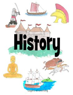 and Printable Covers A printable history notebook cover for kids to slip in their binder, from Layers of Learning.A printable history notebook cover for kids to slip in their binder, from Layers of Learning. Diy Notebook Cover For School, School Binder Covers, School Book Covers, Notebook Cover Design, Notebook Covers, School Notebooks, Cute Notebooks, Binder Cover Templates, Social Studies Notebook