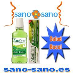 Dentífrico Áloe Vera  Original, Sin Flúor, AloeDent, 100 ml   +  Colutorio Aloe Vera,  AloeDent, 250 ml.