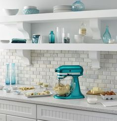 Exceptionnel Teal Kitchen Decor · Gorgeous Blue Green Kitchen Color Scheme With  KitchenAid Mixer. Just Needs A Little Red