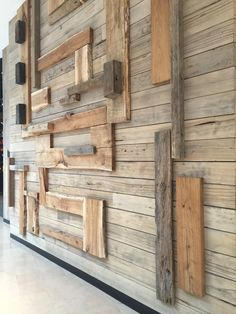 Timber clad wall textured