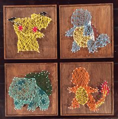 String art diy - 11 Creative DIY String Art Project Ideas To Inspire You – String art diy Pokemon Gifts, Pokemon Craft, Pokemon Party, Art Pokemon, Pokemon Decor, Pokemon Room, Geek Crafts, Cute Crafts, Diy And Crafts