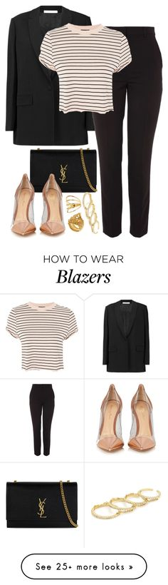 """""""Givenchy x Yves Saint Laurent"""" by muddychip-797 on Polyvore featuring Givenchy, Topshop, Yves Saint Laurent, Gianvito Rossi, Vanzi, Gorjana, Fallon, party, business and saintlaurent"""