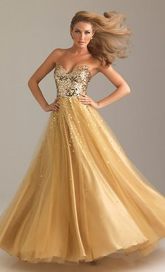 gowns fit for a queen | Best Dresses: A gold dress fit for a queen | Prom Fashion Guide