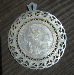 Vintage hand carved Mother of Pearl Religious by SebagoVintage, $65.00