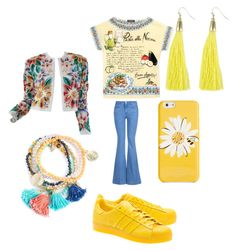 """""""sunny yellow!#outfit#setbyfranerli"""" by fra-nerli on Polyvore featuring STELLA McCARTNEY, Dolce&Gabbana, adidas Originals, Naeem Khan and Kate Spade"""