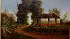 Óleo em tela de Anderson Giannetti Casa na Roça.