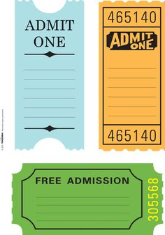 admit tickets