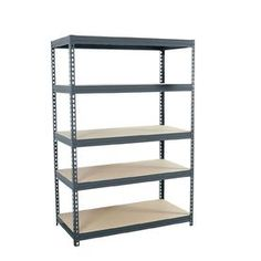 Recommended by Jen R -- edsal 72-in H x 48-in W x 24-in D 5-Tier Steel Freestanding Shelving Unit
