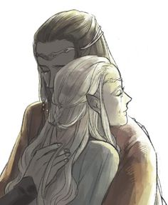 Elrond's return to Celebrían. Think how long they'd been separated! Imagine the joy in their meeting--and the pain in her face when she learns that she will not see her daughter again until the ending of the world.