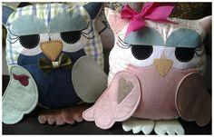 Almofadas feito artesanalmetnte, em tecido e também em feltro....