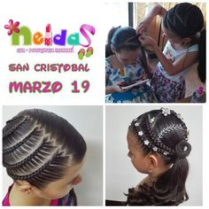Pretty little girl braided hairstyles Little Girl Braid Hairstyles, Little Girl Braids, Princess Hairstyles, Cute Hairstyles, Braided Hairstyles, Baby Hair Cut Style, Kid Braid Styles, Baby Girl Hair, Toddler Hair