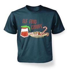 Elf Food Groups kids t-shirt