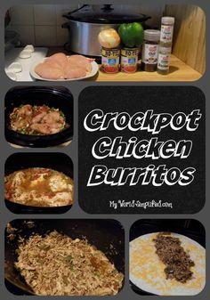 crockpot chicken burritos