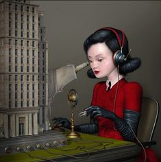 """Ray Caesar is a digital surreal artist who lives and works in Toronto, Canada. His biography has a bit of surrealism too: """"I was born in London, England on October 26 the youngest of four and Ray Caesar, Mark Ryden, Modern Surrealism, Lowbrow Art, Work Inspiration, Whimsical Art, Surreal Art, Brows, Pop Art"""