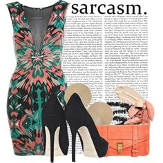 Sarcasm, created by brightlightsbiggercity on Polyvore
