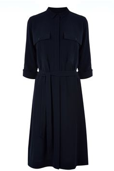 Clothing | Blue BELTED SHIRT DRESS | Warehouse