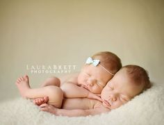I wonder how hard it is to get two babies sleeping at one time?