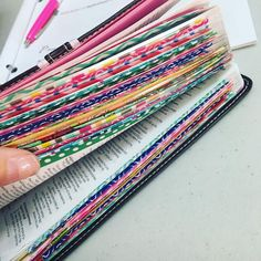 Washi Tape the 1st page of each book of the Bible