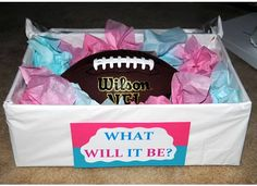 Touchdowns or Tutus Gender Reveal Party Theme!
