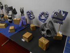 Schülerarbeiten mit Sculpture block