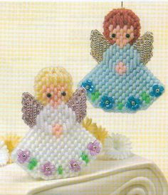 BLUEBELL & ROSEBUD ANGELS CHRISTMAS PLASTIC CANVAS PATTERN INSTRUCTIONS ONLY  #PATTERNFROMABOOK