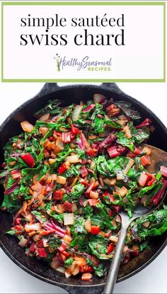Veggie Side Dishes, Healthy Side Dishes, Vegetable Dishes, Side Dish Recipes, Dinner Recipes, Veggie Recipes Sides, Garden Vegetable Recipes, Grilled Vegetable Recipes, Rainbow Chard Recipes